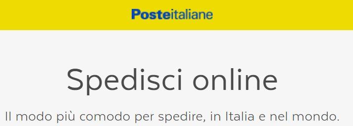 Spedizioni online Poste Italiane raccomandate, lettere, telegrammi e pacchi